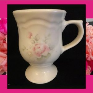 RSVRD Pfatzgraff TEA ROSE Pedestal Mugs Set of 6